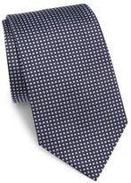 Armani Collezioni Stud Printed Silk Tie