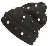 Cara Women's Embellished Beanie - Black