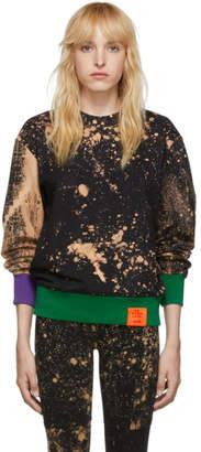 S.R. Studio. La. Ca. S.R. STUDIO. LA. CA. Black SOTO Hand-Bleached Contrast Rib Sweatshirt