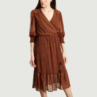 Suncoo Brown Polyester Calixte Dress - 1   polyester   brown - Brown/Brown