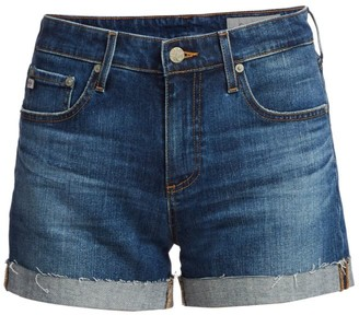 AG Jeans Hailey Ex-Boyfriend Mid-Rise Roll-Up Denim Shorts