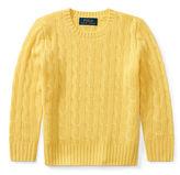 Ralph Lauren 2-7 Cable-Knit Cashmere Sweater