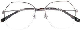 Stella Mccartney Eyewear Half Frame Eyeglasses