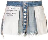 Unravel Project destroyed denim shorts