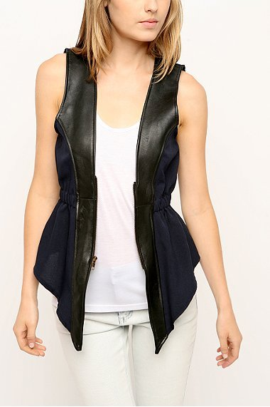 Urban Outfitters Urban Renewal Remade Leather Trouser Vest