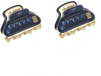 Alexandre de Paris Vendome 2 Clips Box Blue Strass 1.8Cm