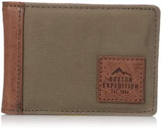Buxton Men's Expedition II Huntington Canvas RFID Blocking Front Pocket Slimfold