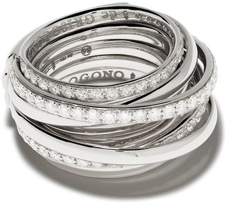 de Grisogono 18kt White Gold Layered Diamond Ring