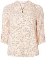 Dorothy Perkins Petite Blush Polka Dot Print Roll Sleeve Shirt