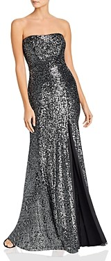 Avery G Strapless Sequin Gown