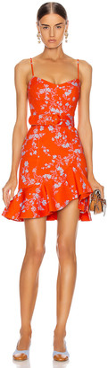 Nicholas Arielle Floral Frill Dress in Poppy Multi | FWRD