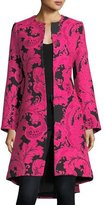 Alice + Olivia Liza Bell-Sleeve Paisley Embroidered Midi Coat