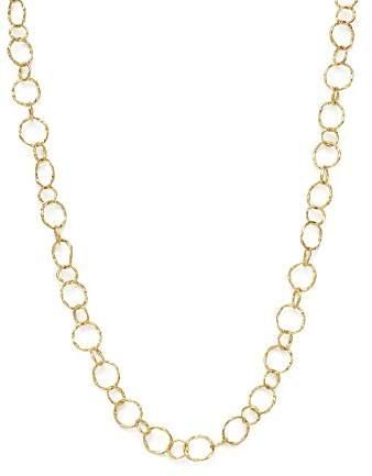 "Armenta 18K Yellow Gold Sueno Yellow Circle Link Necklace, 18"""