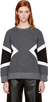 Neil Barrett Grey Zebra Modernist Sweatshirt