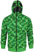 Official Minecraft Creeper Full Face Men's Hoodie (L)