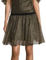 Necessary Objects Metallic Tulle Mini Skirt