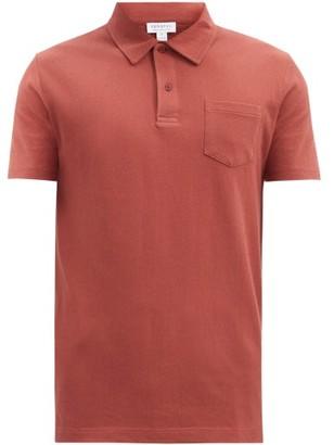 Sunspel Riviera Cotton-pique Polo Shirt - Dark Orange