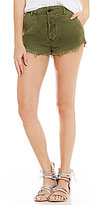 Free People Raw And Patched Standoff Frayed Hem Denim Short