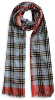 Burberry Check Wool & Silk Scarf