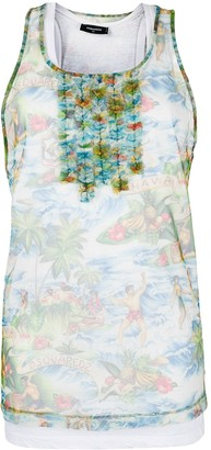 DSQUARED2 Tulle-Layered Tank Top