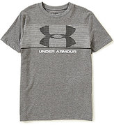 Under Armour Big Boys 8-20 Chest-Striped Tee