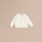 Burberry Open Stitch Detail Cotton Cardigan