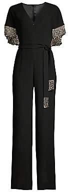 Elie Tahari Women's Nur Beaded Cape Jumpsuit - Size 0