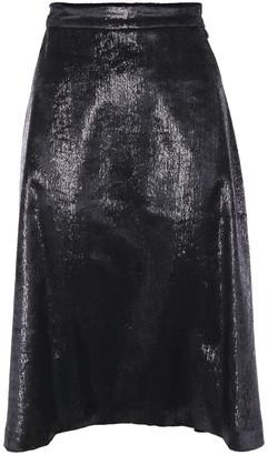 Love Moschino Metallic Velvet Skirt