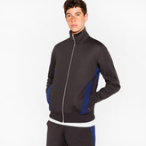 Paul Smith Men's Black Track Top With Side Panels
