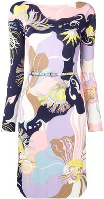 Emilio Pucci Mirabilis Print Belted Dress