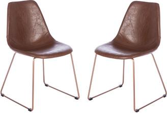 Safavieh Dorian Midcentury Modern Leather Dining Chair