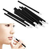 Toraway Make Up Tool 100PCS Disposable MakeUp Lip Brush Lipstick Gloss Wands Applicator