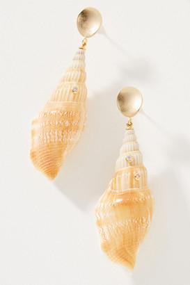 Serefina Artemis Shell Drop Earrings By in White Size ALL