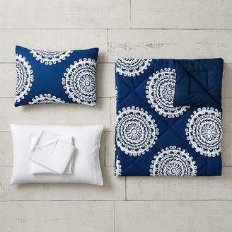 Pottery Barn Teen Medallion Florette Comforter Set, Twin/Twin XL, Light Gray