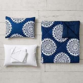 Pottery Barn Teen Medallion Florette Comforter Set, Twin/Twin XL, Royal Navy