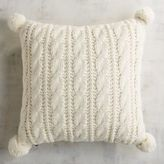 Pier 1 Imports Cable Knit Pom Pom Ivory Pillow