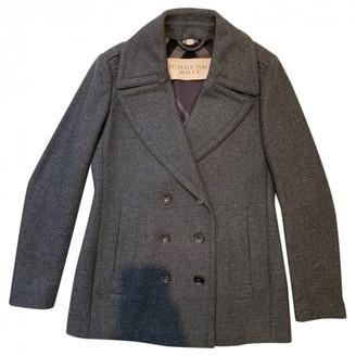 Burberry Grey Wool Coat for Women