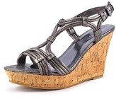 Rampage Cammer Women Open Toe Synthetic Gray Wedge Sandal.
