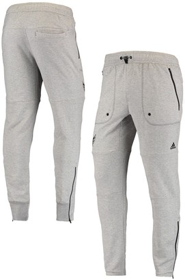 adidas Men's Heathered Gray Washington Capitals French Terry Jogger Pants