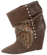 Isabel Marant Studded Wedge Boots