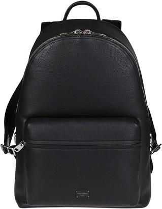 Dolce & Gabbana Black Leather Vulcano Backpack