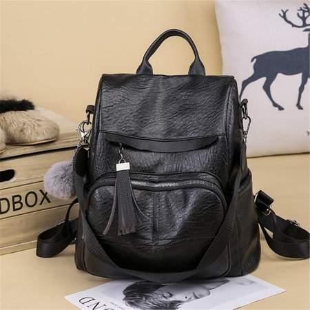 b952b6f157f3 Meigar Women Girls Leather Anti-theft School Backpack Travel Handbag  Shoulder Bags Tote