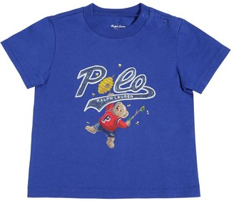 Ralph Lauren Bear Printed Cotton Jersey T-shirt
