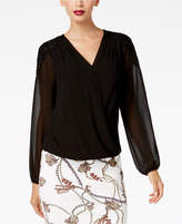 Thalia Sodi Printed Lace-Shoulder Top, Created for Macy's