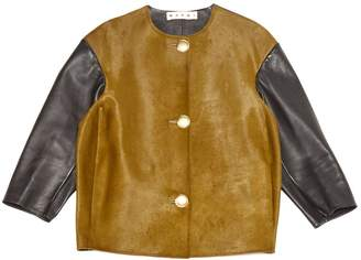 Marni Khaki Leather Jackets