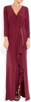 Dagmar Debra silk maxi wrap dress