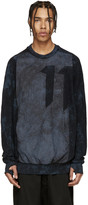 11 By Boris Bidjan Saberi Blue Mesh and Nylon Sweatshirt