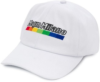 Msgm Kids Embroidered Logo Cap