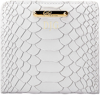 GiGi New York Python-Embossed Leather Mini Folding Wallet