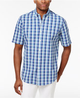 Club Room Men's Avalon Plaid Cotton Shirt, Only at Macy's